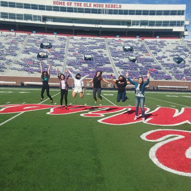 IEP students enjoy Vaught-Hemingway Stadium.